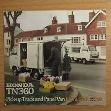 HONDA TN360 TN 360 Pick-up Pickup Truck Panel Van UK Market Sales Brochure 1970s