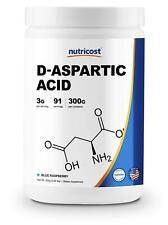 Nutricost D-Aspartic Acid (Daa) Powder 300G (Blue Raspberry) - High Quality