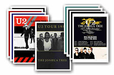 U2  - 10 promotional posters - collectable postcard set # 2