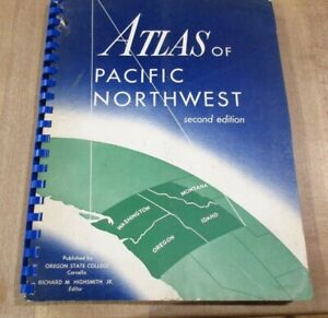1958 Atlas of Pacific Northwest  Resources & Development w Fold out Maps (b)