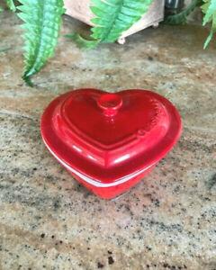 Cuisinart Red Heart Shaped Pottery Ramekin-9 0z- NEW without Box - Nice!!