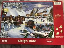 House of Puzzles HOP Jigsaw: sleigh Ride 1000 pieces; very good condition