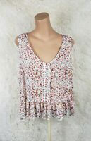 Mossimo Women's Sz XXL Hi Lo Sleeveless Top Semi Sheer Multicolor Floral Pelum J