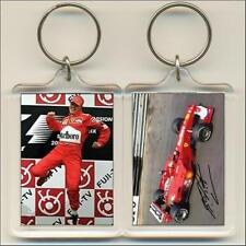 F1 Champions. 2000 Michael Schumacher (signed). Keyring / Bag Tag.