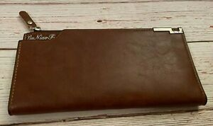 Checkbook Cover, Wallet - Liu Niao Fu - Brown - Coin Purse - Credit Card Holder