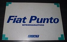 Betriebsanleitung Fiat Punto Typ 176 Bedienungsanleitung Handbuch Dezember 1997!