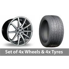 "4 x 18"" AVA New York Hyper Silver Alloy Wheel Rims and Tyres -  215/45/18"