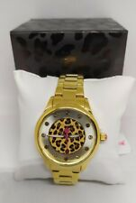 SALE !!! #Betsey Johnson LEAPING INTO THE MIDDLE Watch in Gold Tone
