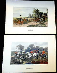 "English Fox Hunt ""Breaking Cover"" John Frederick Herring Plus ""Just In Time"""