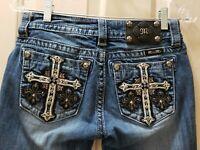 Miss Me Mid-Rise Skinny Denim Jeans.  Size 26 Rise 7.5  Waist 28X30 Hips 34