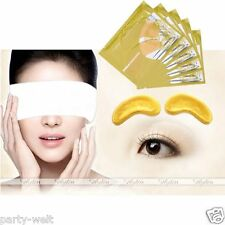 10 Pair Collagen Crystal Eye Mask Moisture Anti Wrinkle Gold Eyelid Patch Beauty