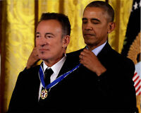 Bruce Springsteen Signed 16x20 Medal Of Freedom Photo RACC TS UACC RD AFTAL