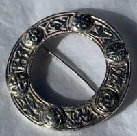 Scottish Silver Brooch Kilt Pin Plaid Pin 1890s Celtic Antique Victorian