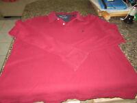 Nautica True Deck Polo Shirt - Red - Long Sleeve - Large