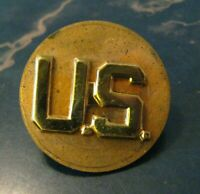 U.S. Army Military Gold Lapel Collar Pin - Vintage United States America Uniform