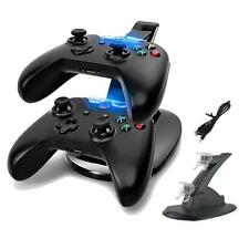 Dual 2 USB Charging Charger Dock Stand/Adapter For XBOX ONE Controller Black KJ