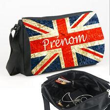 Sac bandoulière drapeau Anglais personnalisé avec prénom V1