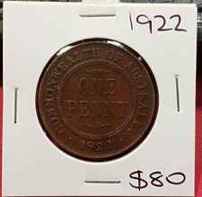 1922 Australian Penny coin