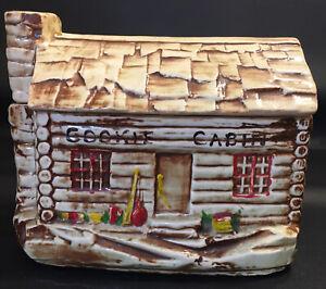VTG 1950's McCoy Log Cabin Cookie Jar USA 136 No Chips or Cracks
