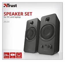 NEW TRUST 21748 ZELOS 24W USB POWERED 2.0 SPEAKER SET (USB-MAINS ADAPTERS AVAIL)