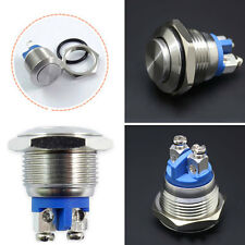 16mm WaterProof Starter Switch Boat Horn Momentary Button Stainless Steel NEW