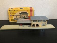 FALLER Vintage 50's HO B103 Built Bahnhof-Bausatz Railroad Train Station & box