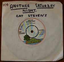 """Cat Stevens – Another Saturday Night 7"""" – WIP.6206 – VG"""