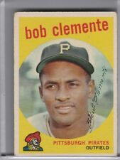 1959 TOPPS #478 ROBERTO CLEMENTE PITTSBURGH PIRATES HOF 6228