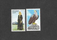 Iceland Stamps 378-379 Eagle, Costume Mint Never Hinged FREE Shipping U. S.