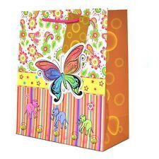 3PK bolsas de regalo de papel decorativas deslumbrantes Mariposa Boda Navidad Fiesta