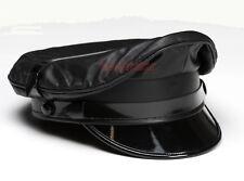 AW-0051 Leather Muir Cap,Gay Leather Army Cap,Biker Cap,Peaked Cap,Military Cap