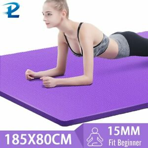 Yoga Mats Gym Home Fitness Healthy Exercise Anti-Slip Mat 185 * 80CM 15MM Strong
