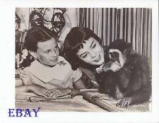 Natalie Wood Lana Wood w/monkey VINTAGE PHoto candid
