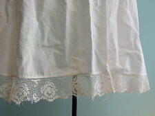 Victorian Edwardian vintage 1/2 apron white cotton embroidery