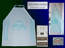 Küchenschürze Schürze Kochschürze Latzschürze m. Tasche Baumwolle 85x70 NEU