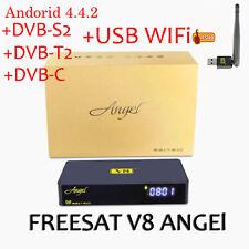 FREESAT V8 Angel DVB-S2/T2 Android Satellite TV Receiver Turner Decoder+USB WIFI