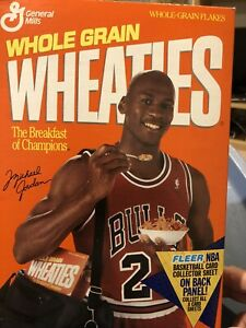 Michael Jordan Wheaties Box Very RARE DUE TO THE CARDS ON THE BACK OF THE BOX