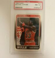 1988 Fleer Basketball #17 Michael Jordan Chicago Bulls HOF PSA 8 NM-MT
