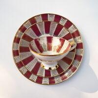 Vintage German teacup saucer dessert plate trio Winterling Röslau Bavaria