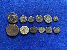 12 Nice Grade Roman Bronze Coins Found Metal Detecting In UK Including Carausius