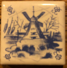 Original Delfter Kacheln - 5 Stück - 4 cm