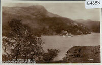 B4683cgt UK Loch Katrine and Ben A'An & Steamer Valentines vintage postcard