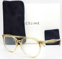 NEW Celine Rx Frame CL 41348 HAM 53mm Champagne AUTHENTIC Tall Round Classic tan