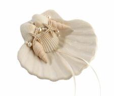 Lillian Rose Fashionable Ring Pillow Alternative Coastal Seashell Holder,