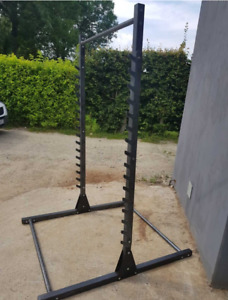 POWER CAGE SQUAT RACK HEAVY DUTY QUALITY MADE FROM STELL WITH PULL UP BAR