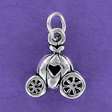 Pumpkin Carriage Charm Sterling Silver for Bracelet 925 Cinderella Coach Ball