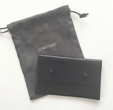 Authentic TOM FORD Black Leather Small COIN HOLDER Wallet Case