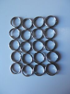 FISHING SPLIT RINGS 20 PACK STAINLESS STEEL VARIOUS SIZES AVAILABLE FLADEN