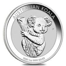 2020 1 oz Silver Australian Koala Perth Mint .9999 Fine BU In Cap