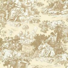 FD21514 - Somerset House Gold Toile Scenery Wallpaper